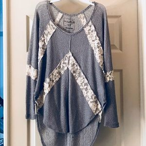 Free People crochet and lace top! Size Small, GUC
